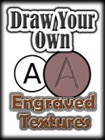 Draw Your Own ENGRAVED TEXTURES Step by Step Using Inkscape (2D Paint Program). Engraved textures can be used for many things in your artwork projects to enhance 3D props like clothing logos, business signs, marked vehicles, superhero symbols, or just postwork titles and descriptions.  This fully illustrated tutorial will demonstrate step-by-step all of the tools and techniques required to create engraved textures from your favorite fonts and custom designs as well.  This training covers creation of raised and embedded textures which can applied to almost any kind of background like stone, metal or cloth.  The techniques covered include Basic Engraving, Weathered Engraving and Outline Engraving.  As an artist, use this experience to develop and hone your drawing skills using the free Inkscape application so that you can express your artistic creativity more effectively.  The techniques demonstrated throughout this training can be applied to other 2D paint applications like Photoshop and Paintshop.