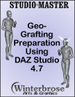 This tutorial in the Studio*Master series provides insights and detailed step-by-step instructions for each task that you must perform to prepare models within Daz Studio for geo-grafting. What is geo-grafting? It is the process of 'appending' additional mesh models like horns or tails to existing mesh models like Genesis, Genisis 2 Female or Male, and Genesis 3 Female or Male figures.