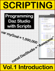 This volume demonstrates how to begin writing your own code (programming); no previous programming experience required.  Start here if you are unfamiliar with how to write code, or just need a quick overview of how to start coding within Daz Studio. No additional programming tools are required!  Everything you will learn is contained within Daz Studio. This volume will set the foundation you need by providing you with the basic skills needed to begin coding.  Modules included are,  1 PREPARING DAZ STUDIO, 2 GETTING STARTED, 3 SECURING YOUR CODE, 4 DEBUGGING, and 5 HANDLING DATA. If you like Daz scripting and persue further development of your skillset, you will eventually be able to take control your scenes and animations within Daz Studio with your own code.  Properly designed scripts can extend the capabilities of Daz Studio and speed up your project workflow.  By using scripts, you can minimize or even eliminate the burden of repetitive, mundane and boring tasks allowing more time to focus on other aspects of your project. Get started today and see if Daz Scripting is for you!