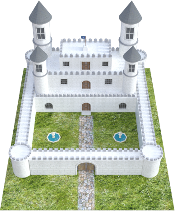 This fully rendered version of the Fantasy Castle in Daz Studio using the Iray engine was completed for this training course.