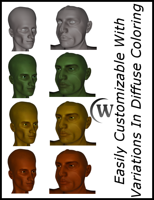 Apply any diffuse coloring to instantly create unique looking characters