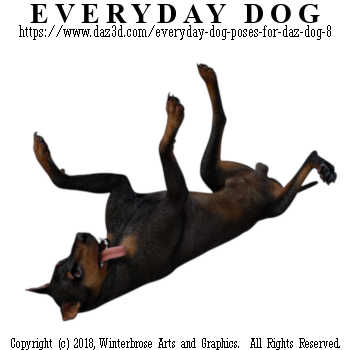 PLAYFUL ROLL Dog from Everyday Dog Poses