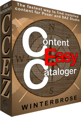 Content Cataloger Easy CCEZ for Windows DAZ Studio 4 Edition