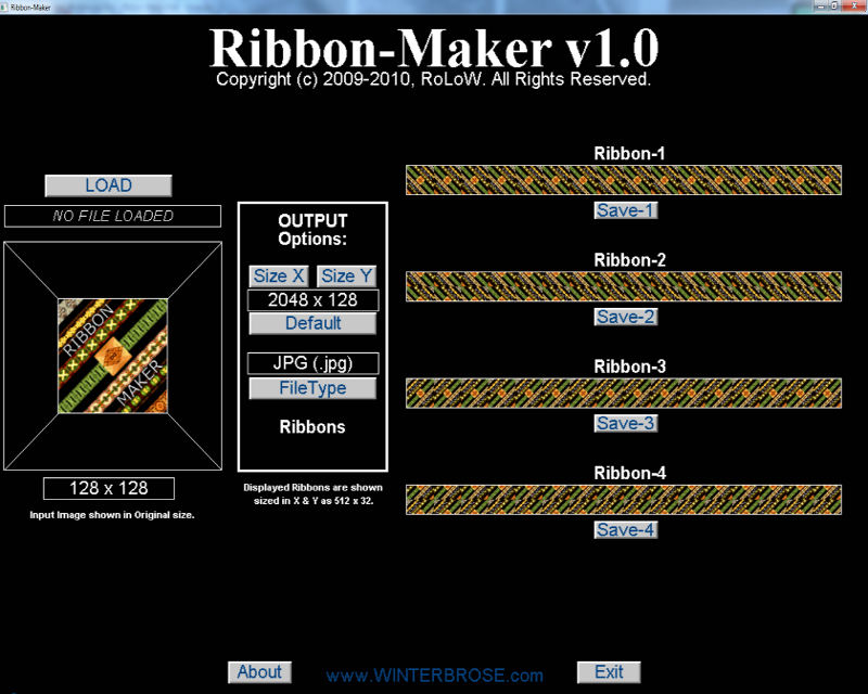 Ribbon-Maker for Windows Screenshot