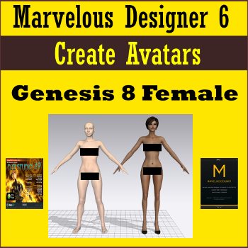 This short tutorial includes Plain Text version, Standard PDF version, and MP4 Video Version (1600x900) demonstrating how to create an avatar for use with Marvelous Designer 6.5 from Daz Studio 4.9 with the latest Genesis 8 Female figure released by Daz 3D.