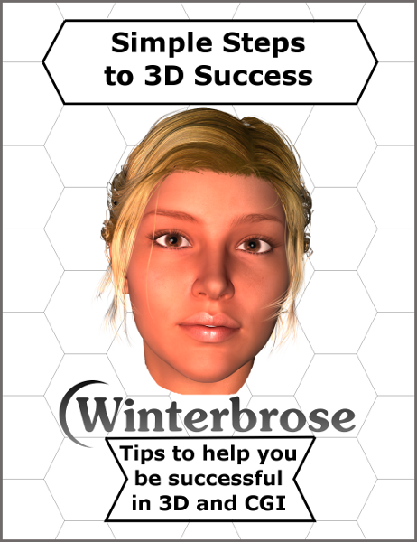 SIMPLE STEPS TO 3D SUCCESS, Tips for Success In 3D and CGI Industry. This guide was developed as part of our program to ease the transition of new or potential digital artists into the 3D industry for professional careers. Does the thought of all this 3D stuff have you wondering if there is anything you can do in 3D? Today 3D and computer graphics are used in many of the great films (not just animations) to bring movies to the big screen like never before. Not to mention those awesome console games and online gaming. With 3D it seems that if you can imagine it, then it can be created (at least in the virtual world of 3D). If you want to explore the possibilities of 3D for yourself, then you will need to become familiar with what 3D can do for you and decide if and how to become the next great 3D Artist. You will find information in this guide to help get you started by introducing much of the general information and questions that most people think about before beginning their own 3D quest. Our goal is to encourage each and everyone who reads this to enter some field in the 3D industry. You can read the topics and issues covered along with an overview preview showing the layout of all of the pages in the guide below. Just starting out and don't know where to begin or what to buy? TOPICS covered, To 3D Or Not To 3D; what can I do with 3D? Digital Graphics; exactly what is CGI? Tools & Equipment; what hardware do I require for 3D? Endless Apps; which platform do I choose for my 3D work? Best Fit; what personality type am I; Builder, Painter, or Producer? Build It Or Buy It; should I make it myself or pay someone else for it? Piecemeal Or Publication; should I research the subject or purchase tutorials? Honesty Is Not The Best Policy; OUCH! How will I live with myself? Low-Key, High Alert; Eyes Open, Mouth Shut! Ask For Every Penny It's Worth? Overpricing seems to be the trend. You Can Do It All Yourself! Or can you?